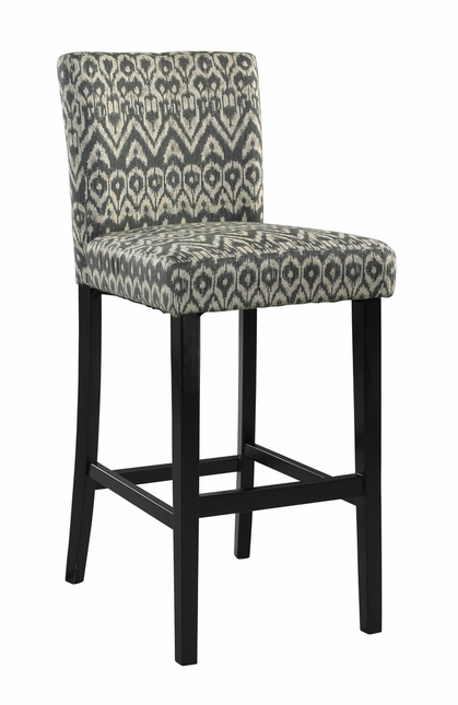 Morocco Fabric Upholstered Wooden Bar Stool
