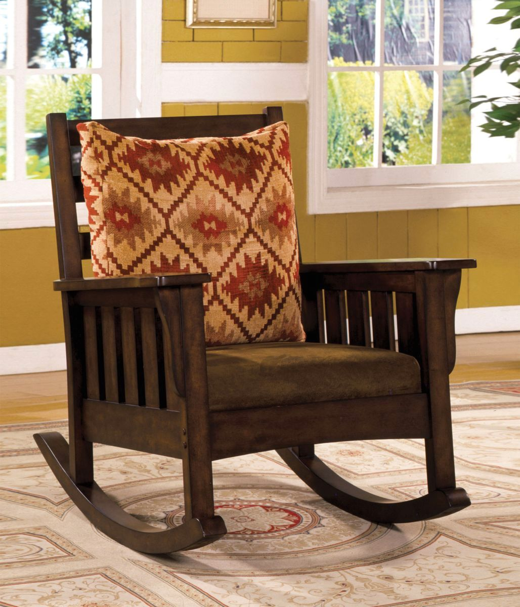 Morrisville Mission Dark Oak Rocking Chair With Removable