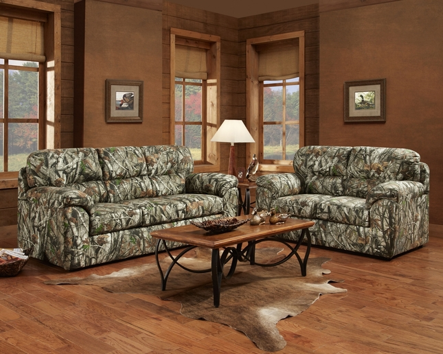 oak living room furniture set mossy oak camouflage sofa amp loveseat duck living 20202