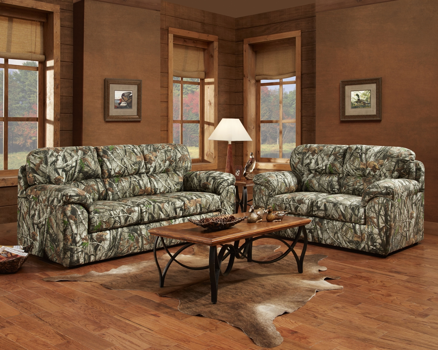 mossy oak camouflage sofa loveseat hunting lodge living room furniture set ebay