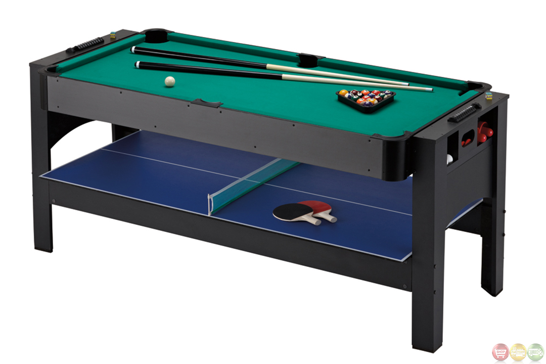 Carmelli ng1022m 72 3 in 1 flip table billiards ping pong for Table 6 games