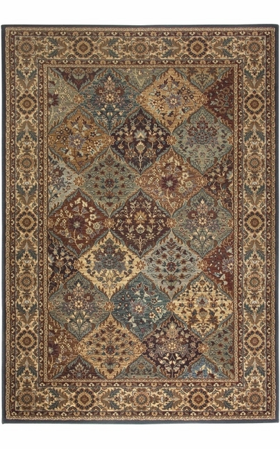 Rizzy Rugs Multi Traditional Power Loomed Area Rug Bellevue BV3199