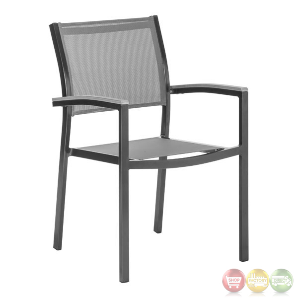 Muni Gray Outdoor Dining Chair   Set Of 2   Zuo Modern   703223
