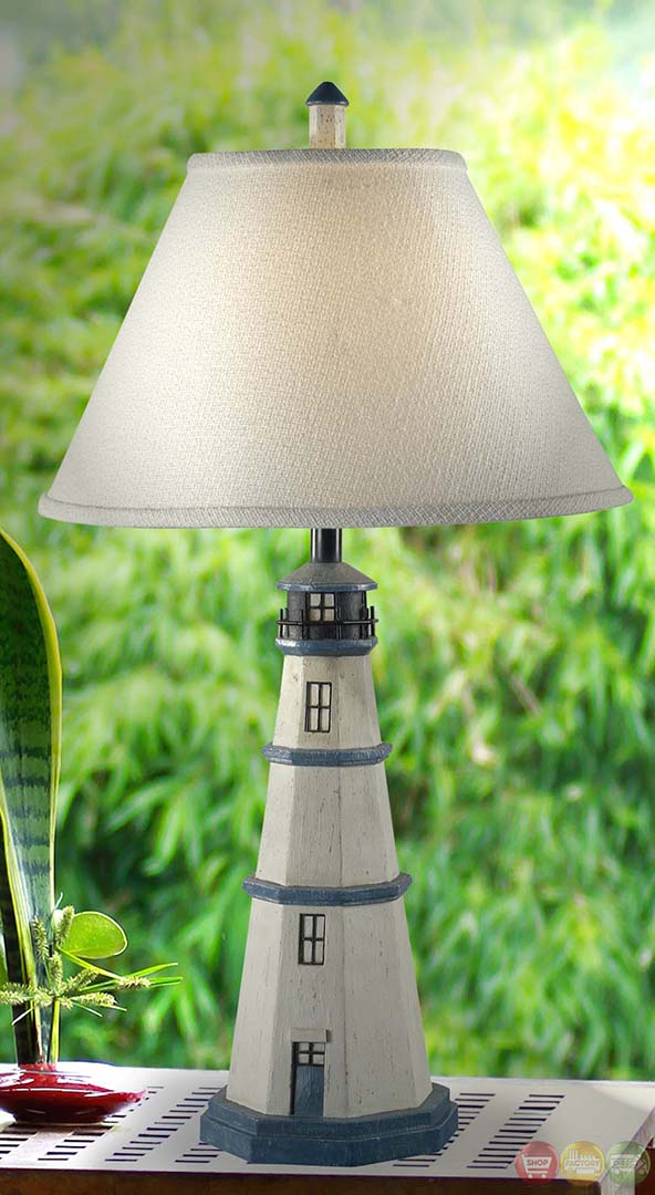 Nantucket 150 Watt Three Way Bulb Antique Table Lamp