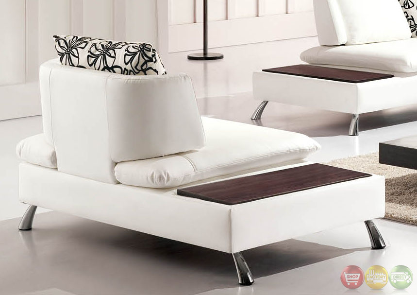 Nicki Ultra Modern White Bonded Leather Sectional Sofa