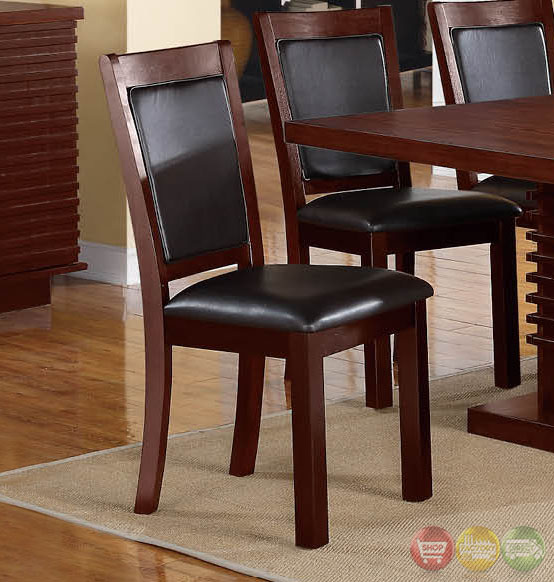 Dark Wood Dining Set: Navajo Transitional Dark Wood Casual Dining Set With