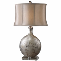 Navelli Metallic Silver Ceramic Table Lamp 27428