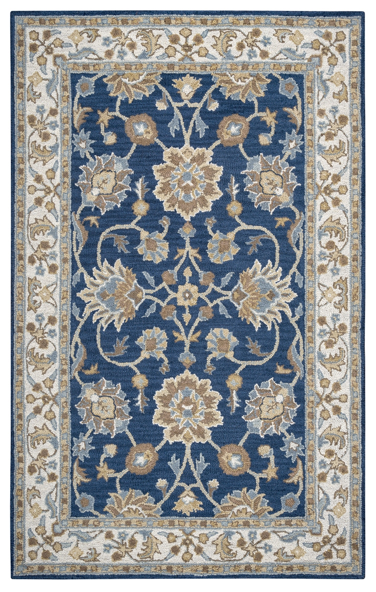 Rizzy Rugs Navy Amp Ivory Traditional Hand Tufted Area Rug