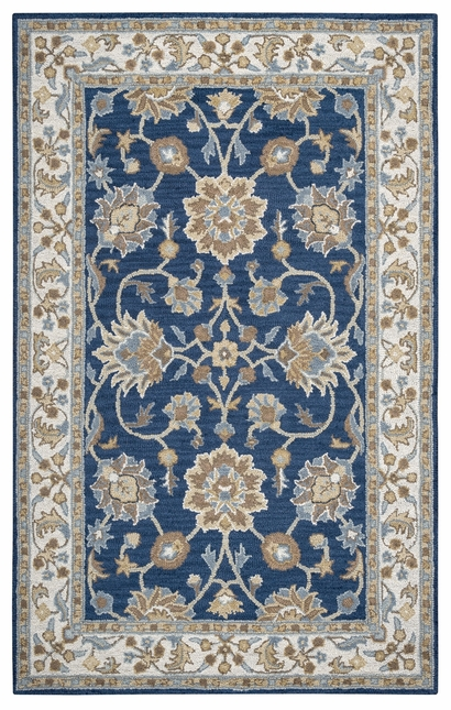 Rizzy Rugs Navy & Ivory Traditional Hand Tufted Area Rug Ashlyn AL2823