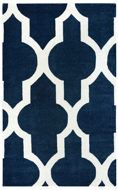 Rizzy Rugs Navy Transitional Hand Tufted Area Rug Volare VO2132