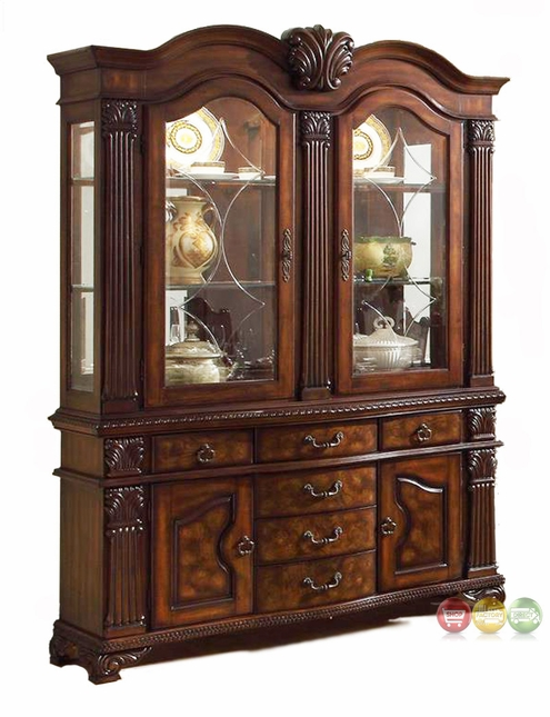 Neo Renaissance Traditional Formal Dining Room China Cabinet Buffet Hutch