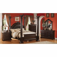 Neo Renaissance II Poster Canopy Bed Luxury Bedroom Furniture Set