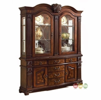 Neo Renaissance Traditional Formal Dining Room China Cabinet Buffet & Hutch