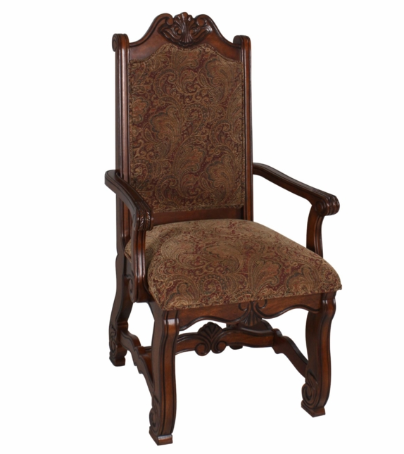 Neo renaissance traditional formal dining upholstered arm for Formal dining chairs