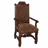 Neo Renaissance Traditional Formal Dining Upholstered Arm Chair (Set of 2)
