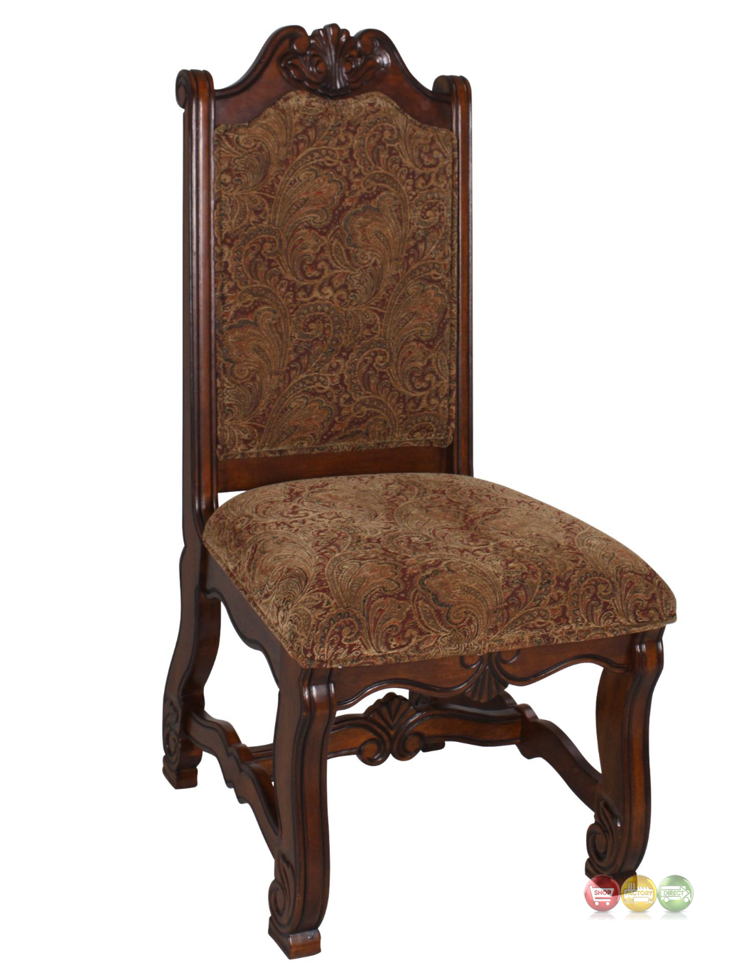 Neo renaissance traditional formal dining upholstered side for Formal dining chairs