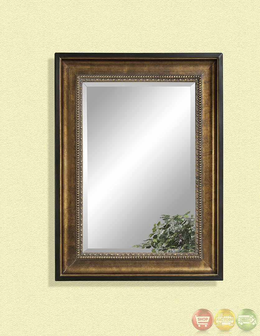Neville Antique Gold Leaf Finish Wall Mirror M2631BEC