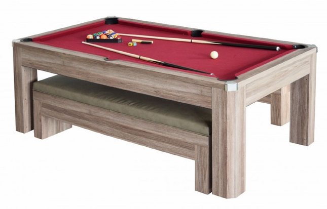 Marvelous Newport 7 Ft Table Tennis U0026 Billiards Combo With Bench In Driftwood Finish