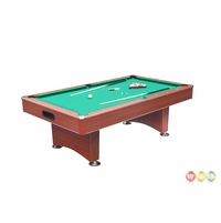 Carmelli Madison 8-Ft Deluxe Pool Table with Green Felt & Ball Return in Cherry Finish