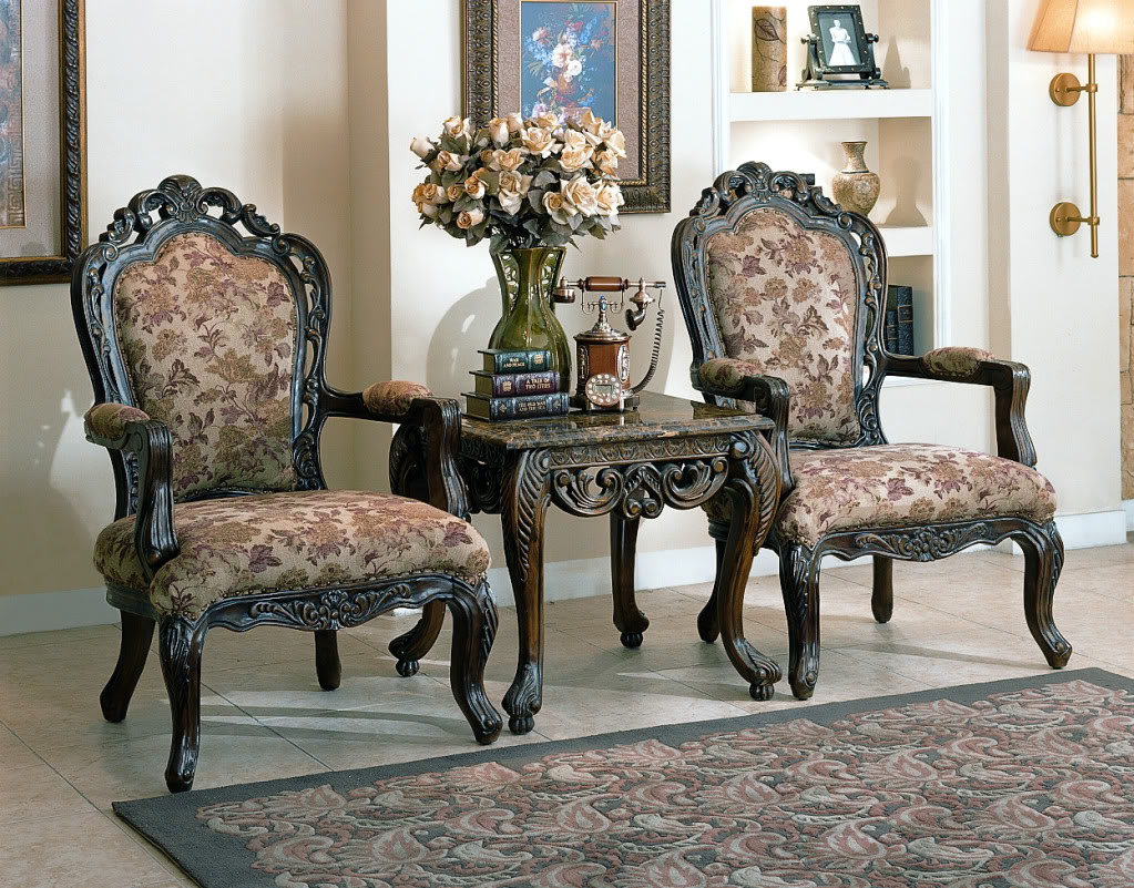 Newport baroque style fabric formal living room furniture set - Formal living room furniture sets ...