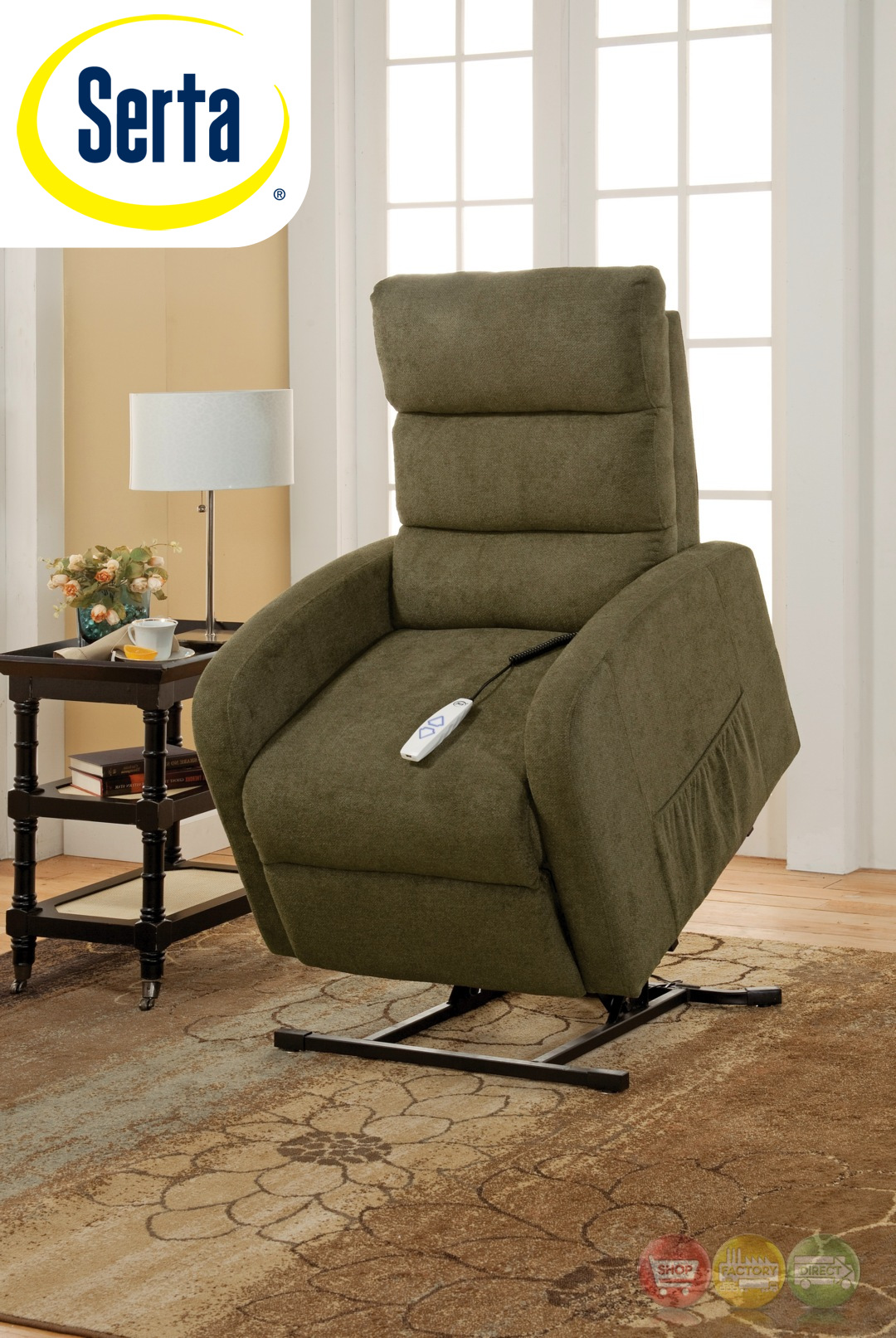 Serta Comfortlift Newton Green Reclining Lift Chair With