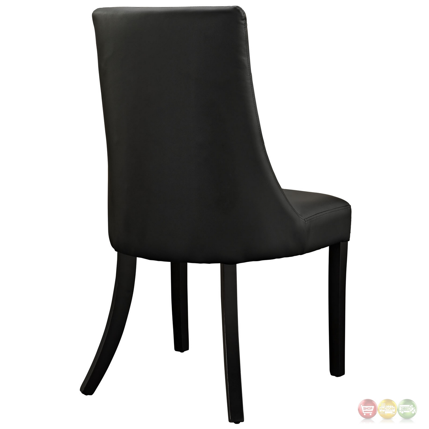 Noblesse Contemporary Dining Patterned Vinyl Side Chair Black