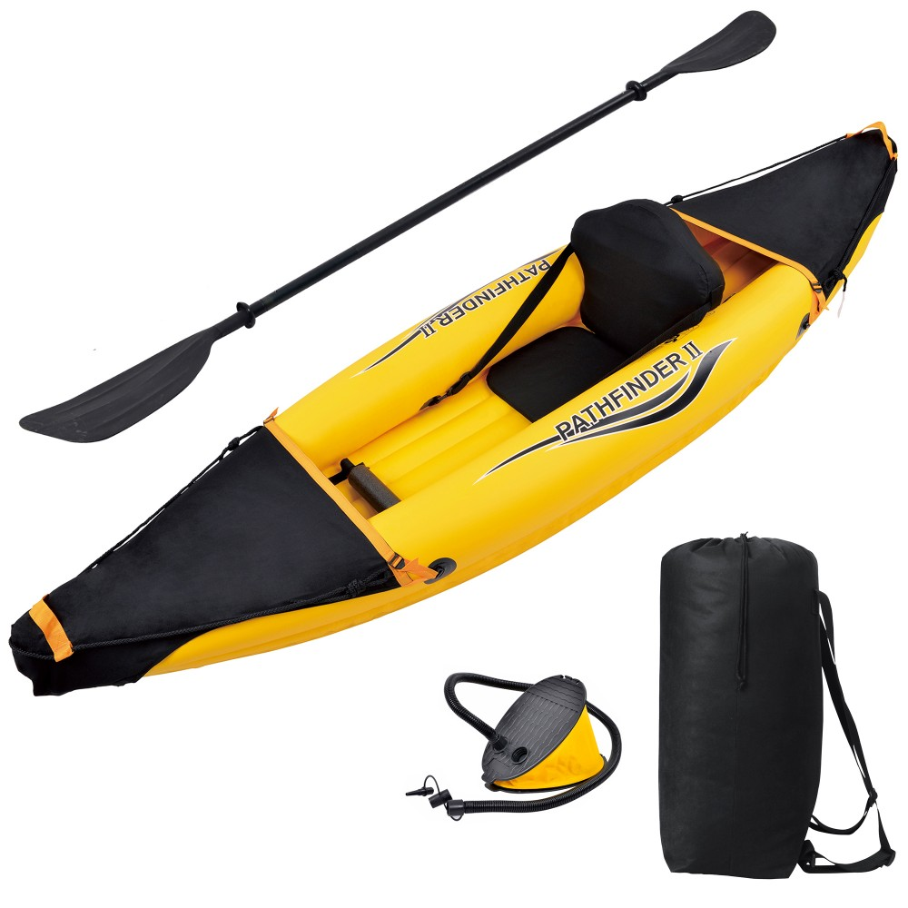 Nomad 1 Person Fabric Seat Inflatable Sport Kayak