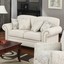 Norah Shabby Chic Antique Inspired Sofa Set Oatmeal Fabric Nailhead Accents