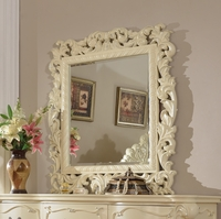 Novara French Ornate Dresser Mirror In Pearl White