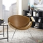 Nutshell Modernistic Deep-seat Shell-inspired Lounge Chair, Tan