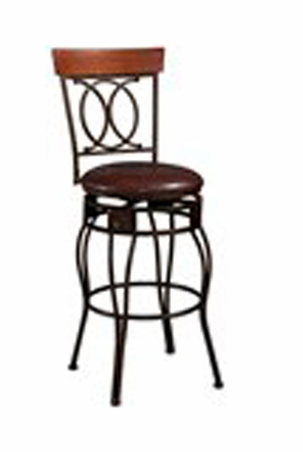 O & X Back Traditional Style Bar Stool