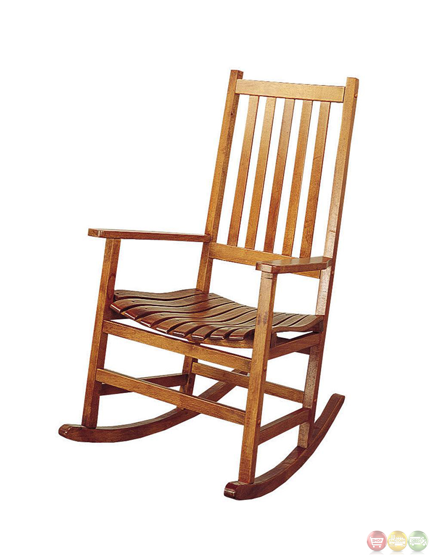 Oak finish traditional design wooden rocking chair for Rocking chair