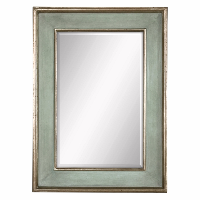 Ogden Traditional Hand Rubbed Sky Blue Vanity Mirror 12640 B