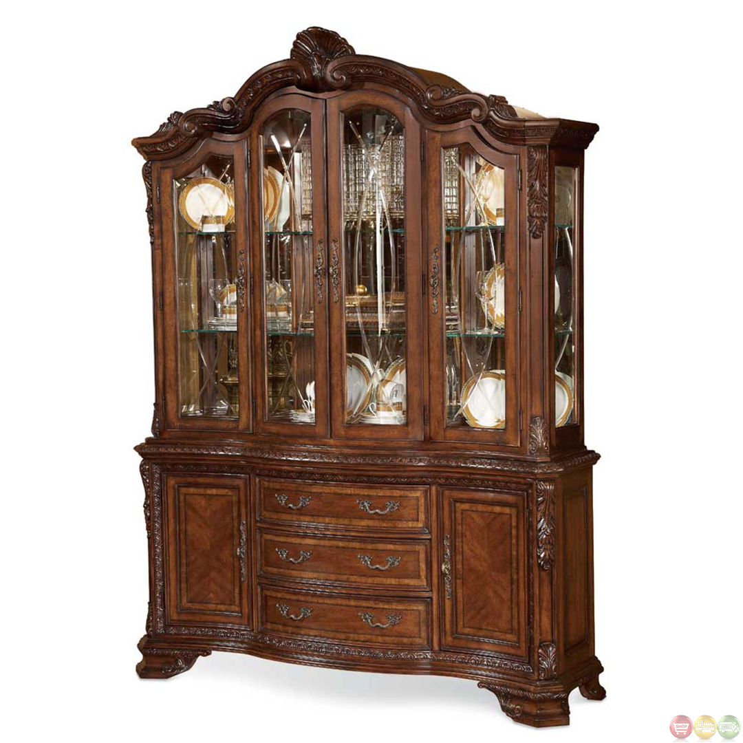 Formal Dining Room Sets With China Cabinet Old World Dining Table Chairs Furniture Shop Factory