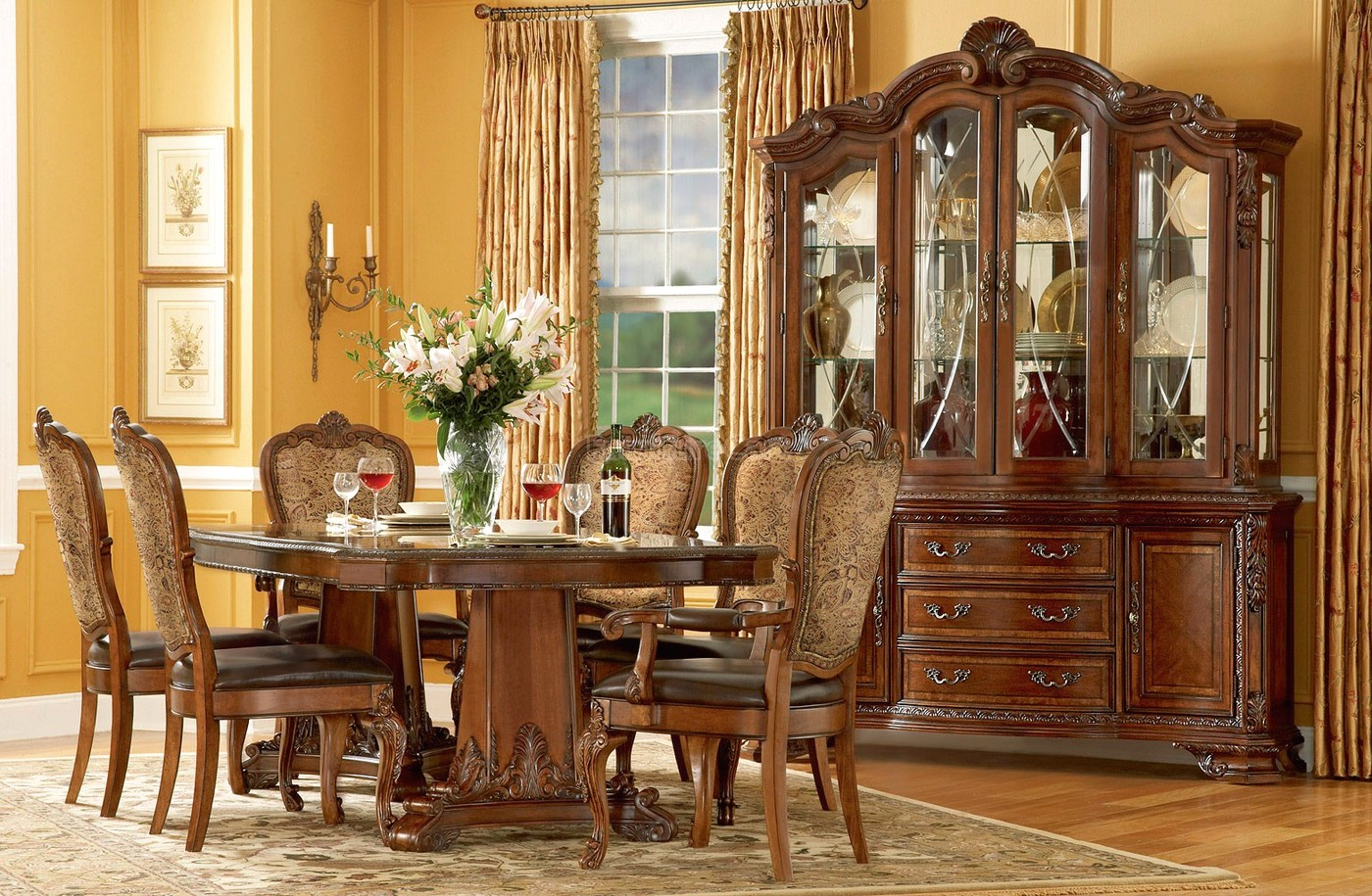 Old World Dining Table Chairs Furniture Shop Factory Direct