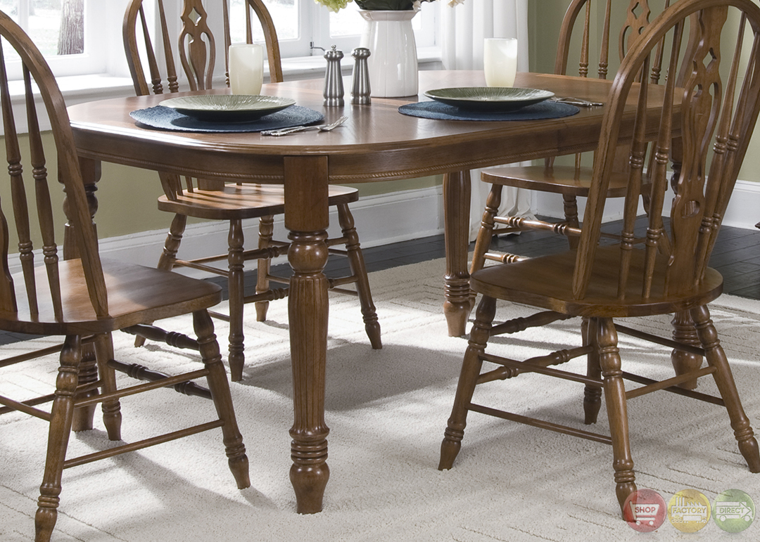 Old World Dining Set: Old World Traditional Style Casual Dining Set