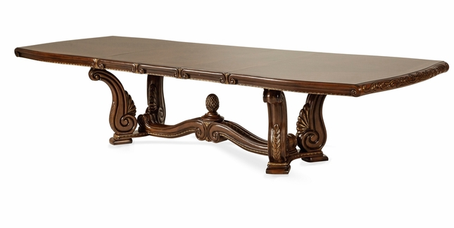 Michael Amini Oppulente Elaborately Carved Rectangle Dining Table By AICO