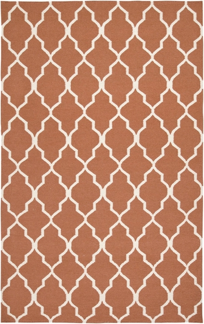 Rizzy Rugs Orange Lattice Hand Woven Dhurrie Area Rug Swing SG2102