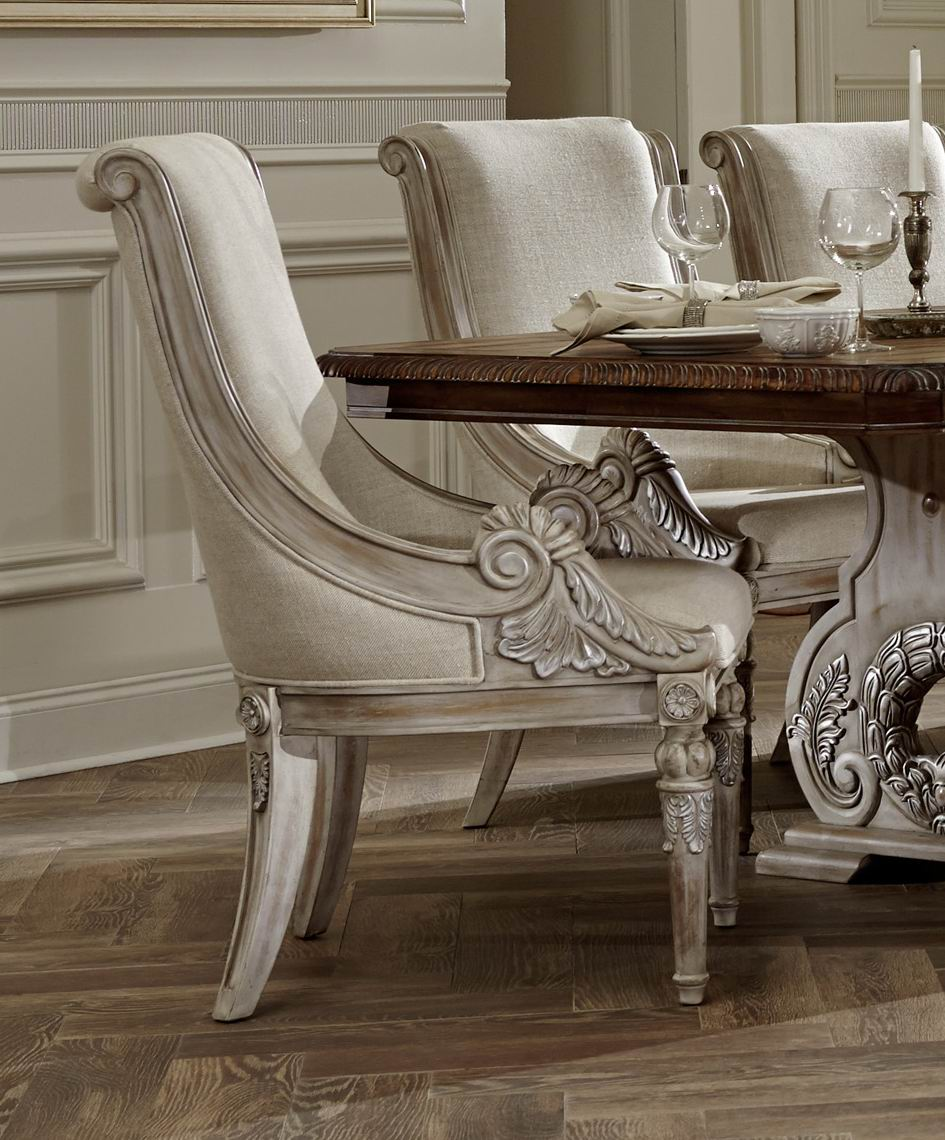 White wash wood dining table white wash dining room for Traditional dining room furniture