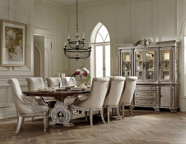 Great Orleans II White Wash Traditional Formal Dining Room Furniture Set