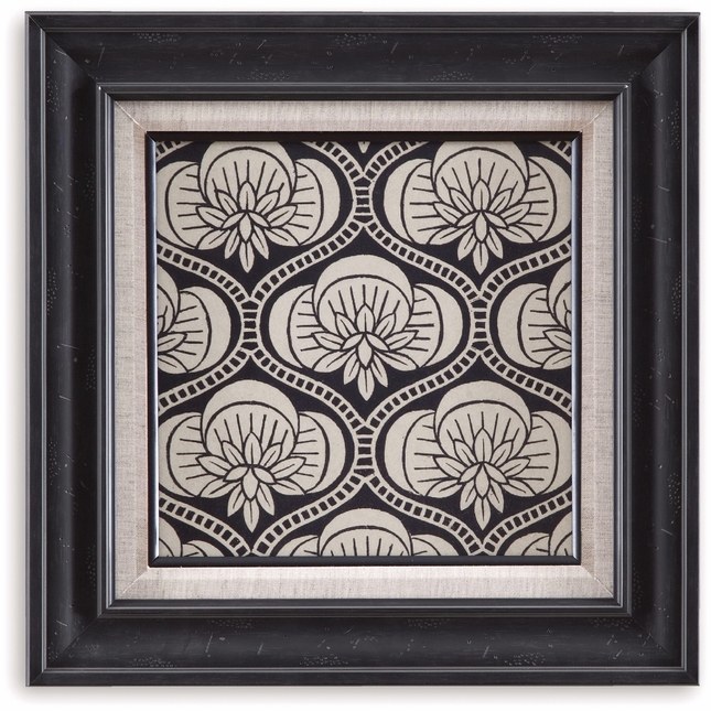 Ornamental Tile Motif Framed Wall Art 9900-318AEC