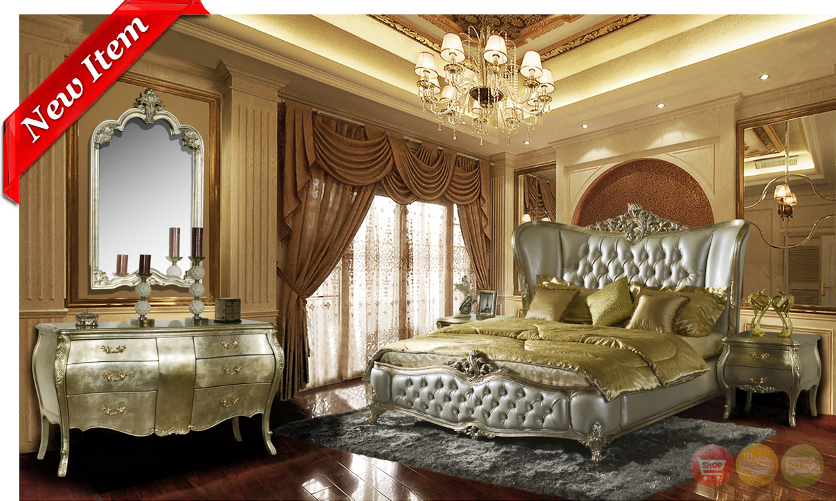 Classic Wing Back Tufted Bedroom Collection Homey Design