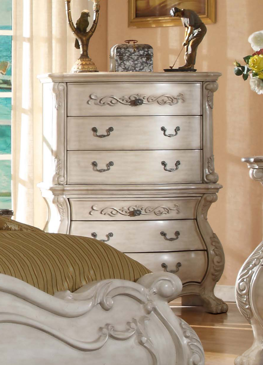antique white bedroom furniture mansion bed 87958