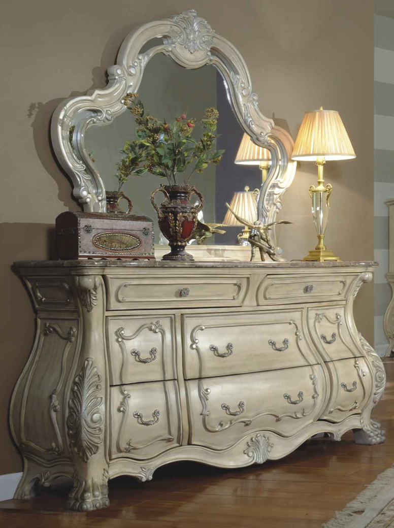 Marble And Wood Bedroom Furniture ~ Traditional bedroom furniture collection mansion bed wood