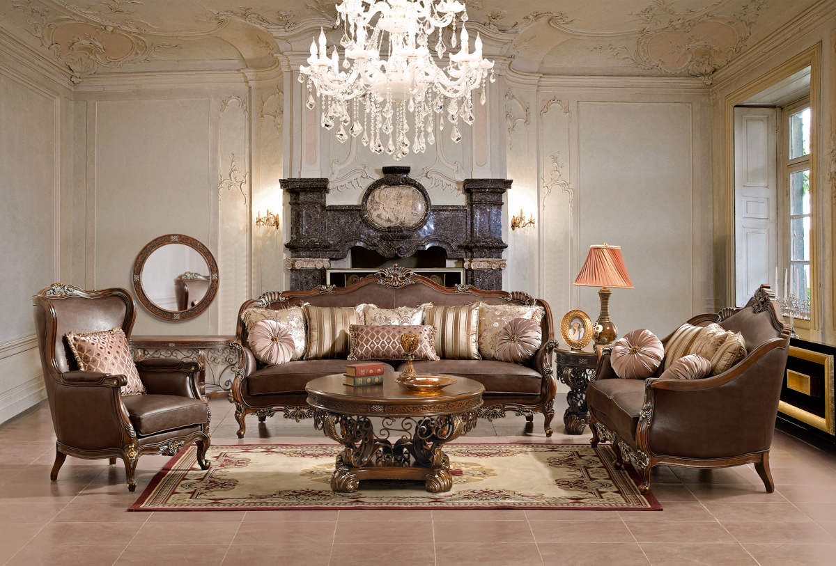 Ornate Traditional Style Living Room Furniture Sofa Love