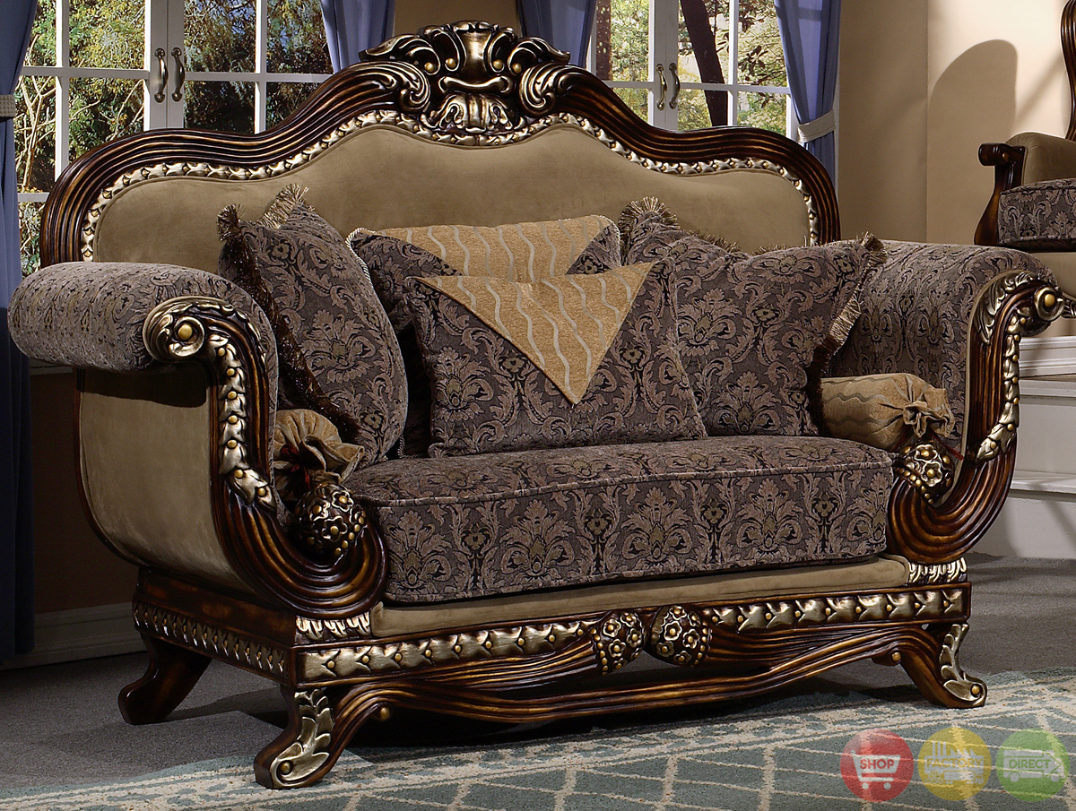 Victorian inspired formal living room sets for Living room furniture classic style