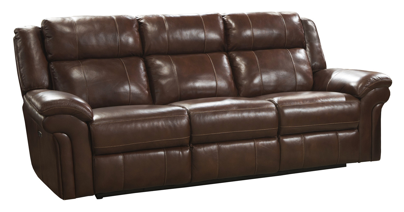 Dual Reclining Leather Sofa Gorgeous Leather Reclining