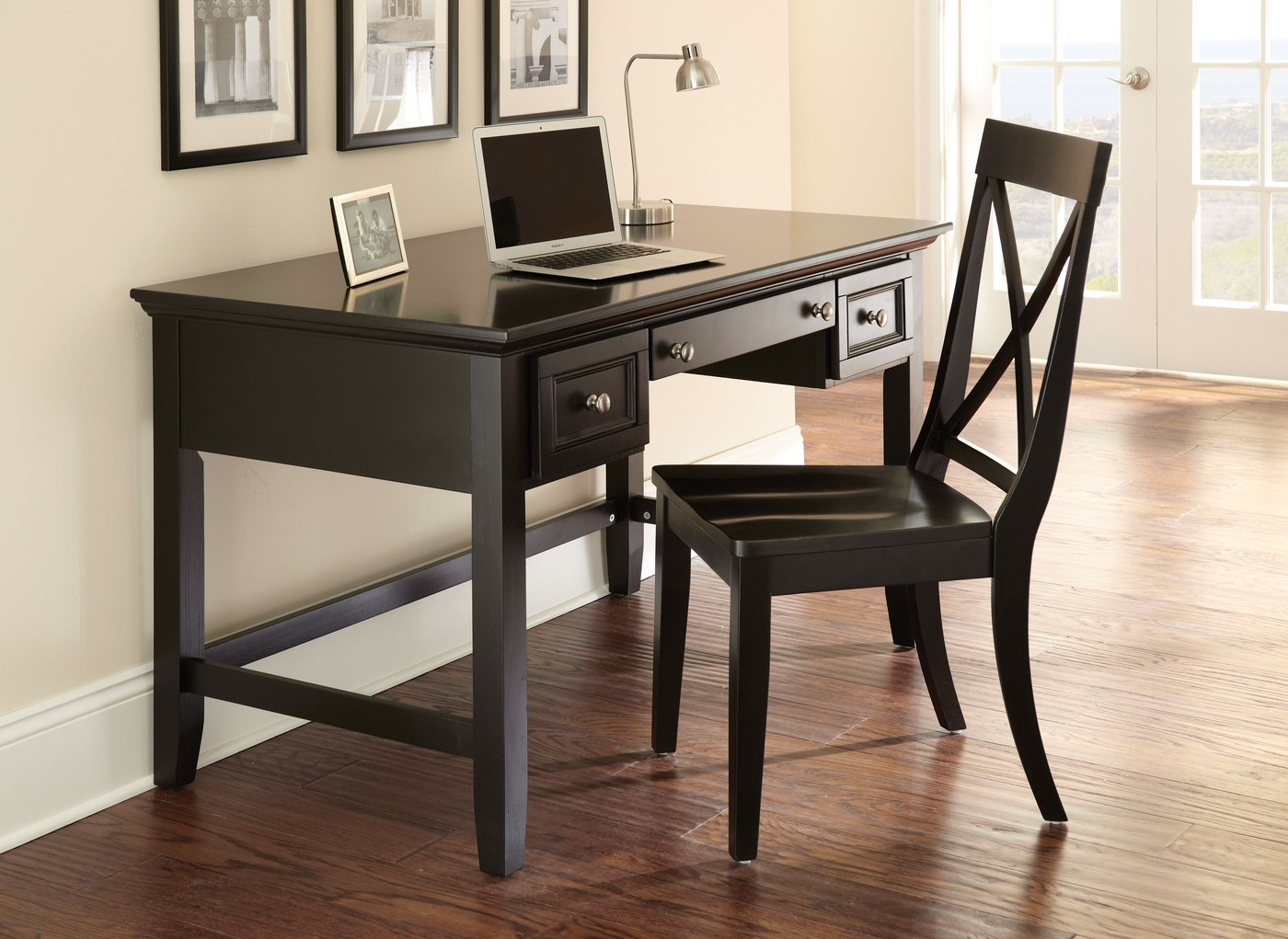 Oslo 54 Quot Painted Black Writing Desk With Flip Down