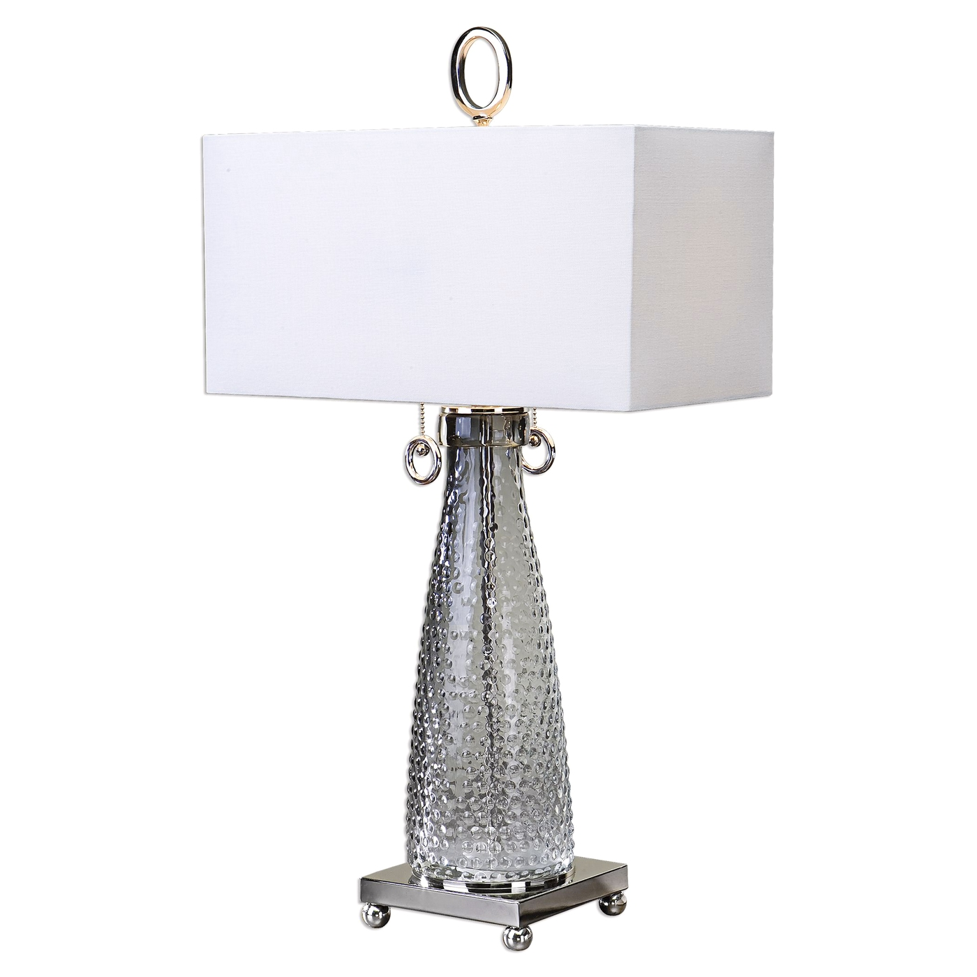 Ostola Modern Smokey Beaded Textured Glass Lamp With