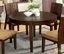 Ottawa Contemporary Walnut Casual 5 pc Dining Set Padded Fabric Seats
